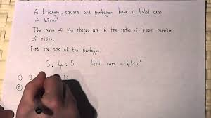 ratio solving simple word problems involving ratio and shape and
