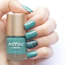 stamping nail polish ever green moyou london