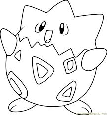 Pokemon Coloring Pages Togepi   togepi pokemon coloring page free pokémon coloring pages