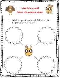 arthur s thanksgiving book thanksgiving by marc brown a complete book response journal