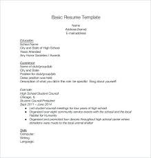 resume templates for highschool students resume templates for highschool students basic high school resume