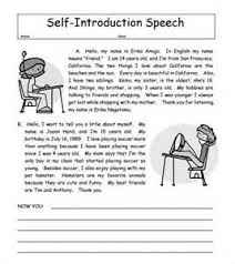example of self introduction letter cv template blank