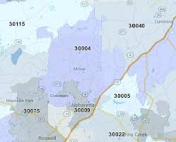 ga zip code map milton ga 30004 zip code map location at home in milton