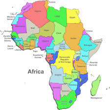 africa map states shipping to africa