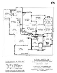 Floor Plan Front View by Fancy 4 Bedroom House Plans With Front Porch And Bed Room Floor