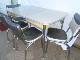 1950s chrome kitchen table and chairs 1950 s vintage chrome cracked ice formica retro kitchen table set 4