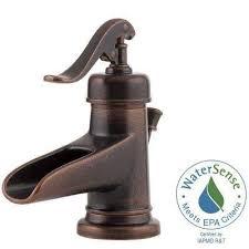 waterfall bathroom faucets bath the home depot