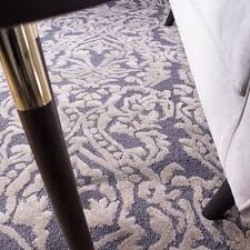 contemporary grey floral damask wool rug meraki kukoon