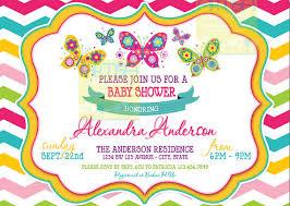 chevron butterfly baby shower invitation chevron butterflies