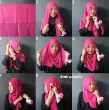 tutorial hijab segi empat paris simple contoh gambar tutorial hijab segi empat casual jpg