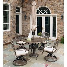 Dining Room Table With Swivel Chairs by Patio Dining Sets Patio Dining Furniture The Home Depot
