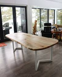 live edge outdoor table home living wood design toronto muskoka ontario canada