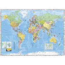 World Map With Flags Shop Allen Roth World Map And Flags Mural At Lowes Com