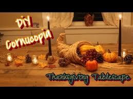 cornucopia centerpiece diy cornucopia centerpiece thanksgiving tablescape