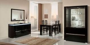 Modern Lacquer Dining Table Set Furniture In Black Features - Black lacquer dining room set