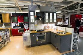 kitchen furniture store kitchen in the furniture store ikea stock photo picture and