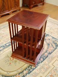 decorating large antique victorian oak revolving bookcase for