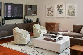 White Armchair With Ottoman White Leather Ottoman Living Room Contemporary With Beige Armchair