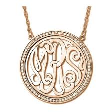 Circle Monogram Necklace 34 Best Monogram Necklaces Images On Pinterest Monogram Initials