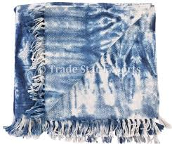 Tied Rag Rug Hand Block Print Rugs Carpets Indigo Tie Dye Carpet Runner Indian