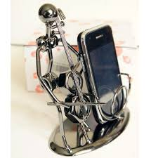 creativity handmade welding iron crafts doll play the cello for cell