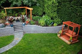 Backyard Retaining Wall Ideas Backyard Retainer Wall Ideas This Backyard Wood Retaining Wall