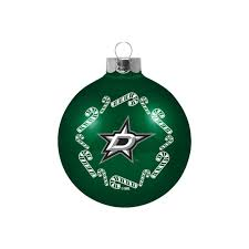 dallas stars candy cane ball ornament