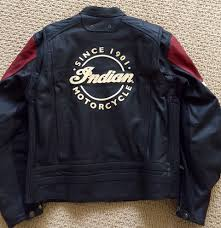 red leather motorcycle jacket for sale new men u0027s xl indian leather jacket indian motorcycle forum