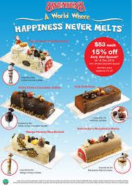 swensens christmas logcakes promotions 2013
