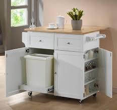 Cabinets For Small Kitchen Home Styles Create A Cart White Kitchen Cart With Natural Wood Top