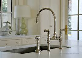 polished nickel kitchen faucet my kitchen sink and faucet perrin rowe deck mount bridge faucet