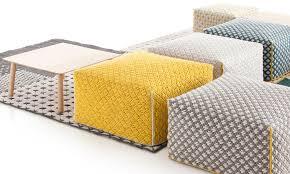 paint yellow pouf ottoman for your editeestrela design