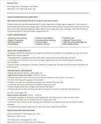 Legal Administrative Assistant Resume Sample by Sample Legal Assistant Resume 8 Examples In Word Pdf