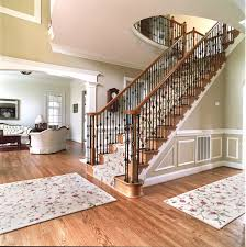 stair railings with wrought iron balusters mitre contracting inc