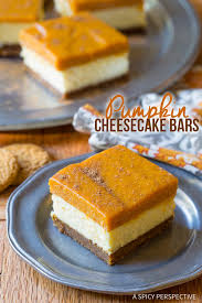 layered pumpkin cheesecake bars a spicy perspective