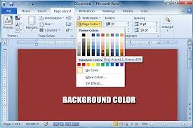 How Change Page Color Word Document Background Photo Splendid Pages Background Color