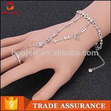 bracelet with ring designs images Alibaba express turkey white gold bracelet design for girls silver jpg