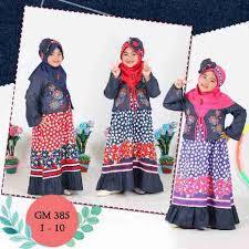 desain baju gaun anak baju muslim anak perempuan merk keke jual baju muslim anak gamis