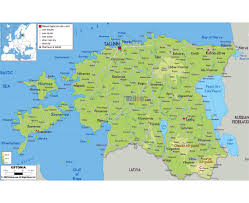 Physical Map Of Germany by Maps Of Estonia Detailed Map Of Estonia In English Tourist Map