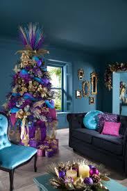 Home Design For Christmas Xmas Tree Decorating Ideas With Beautiful Purple Baubles And