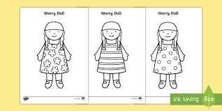 worry dolls colouring silly billy worrier worry box