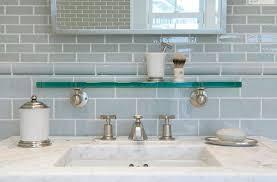 Gray Glass Tile Backsplash by Blue Glass Tile Backsplash Great Home Decor Modern Glass