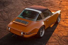 orange porsche targa this restomod porsche 911 targa is beyond incredible airows