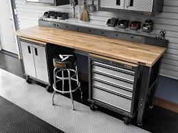 6 u0027 adjustable height maple workbench with hammered granite finish