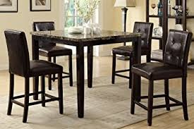 high dining room table and chairs amazon com counter height dining table and 4 high chairs by