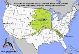 us map alaska is there a map that accurately represents the size of alaska in