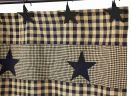 Black Window Valance Black Applique Star Shower Curtain Allysons Place