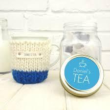 Cosy Personalised Colour Block Mug Cosy And Tea Jar Gift Set By Chi Chi