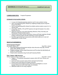 Resume Computer Skills Example by C Programmer Resume Free Resume Example And Writing Download