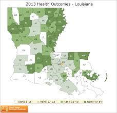 Louisiana Zip Code Map by Louisiana Rankings Data County Health Rankings U0026 Roadmaps